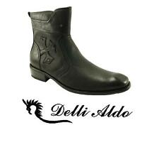 Men's Delli Aldo Calf High Boots Side Zip Design Styled in Italy