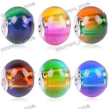 Mix Rainbow Gradient Murano Glass Beads Assortment Fit European Charm Bracelets