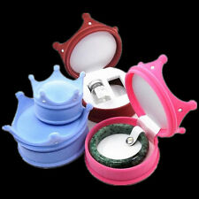 New Gift Fashion Velvet Hat Style Hot Crown Ring Box Jewelry Display Cool