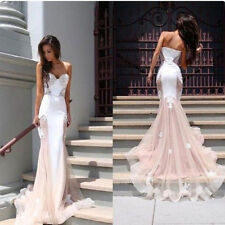 Womens Sexy Long Lace Evening Formal Party Cocktail Dress Fashion Prom Gown Slim