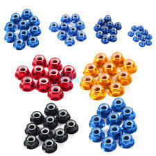 10Pcs M2 M3 M4 M5 Nylon Insert Self-Lock Aluminum Alloy Nuts Hex Lock Nut Set