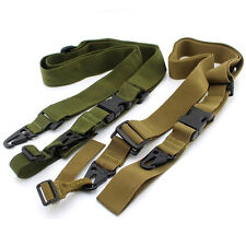 3 Point Adjustable Tactical Hunting Rifle Sling Bungee Shotgun Gun Strap System