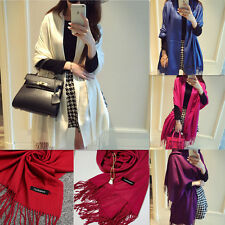 Womens Winter Warm Cashmere Silk Long Pashmina Shawl Wrap Scarf Different Colors