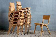 4x Vintage MidCentury Industrial Bentwood Stacking School Cafe Dining Chairs