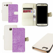 pu leather wallet case for majority Mobile phones -  purple profficient white