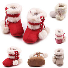 Nice New Baby Infant Boots Girl Boy Toddler Suede Snow Crib Xmas Gift Shoes