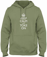 Men's Keep Calm And Toke On Hoodie Marijuana Smoker Pot Sweatshirt FREE S&H!