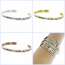 """""""Future Belongs to Those Who Believe In the Beauty of Their Dreams"""" Cuff Bangle"""