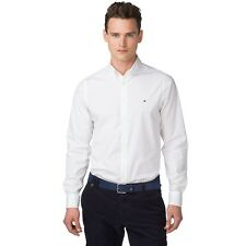 Button Shirt Sleeve Casual Mens Down Shirts Fit Long S Slim Tops Tommy Hilfiger