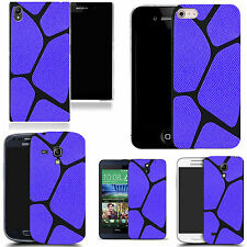 sillicone case cover for majority Mobile phones -blue blocked pattern silicone