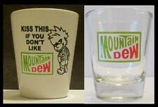 Very Nice Set of 2 Mountain Dew Shot Glasses