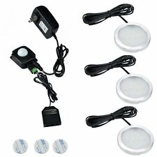 Wireless LED Under Cabinet 3 Lights Kit PIR IR Infrared Induction Detect Sensor