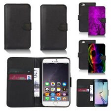 black pu leather wallet case cover for apple iphone models design ref q325