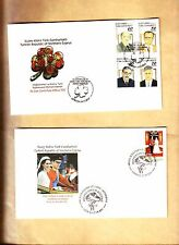 TURKISH CYPRUS 9 FDCS FROM YEAR 2010-2011