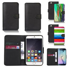 black pu leather wallet case cover for many mobiles design ref q548