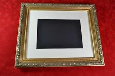 Picture Frame 8x10 or 11x14 Gold Grey Wash Ornate Picture Frame with Photo Mat