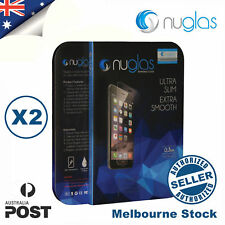 2x Genuine NUGLAS Premium Tempered Glass Screen Protector for iphone 7 plus Lot