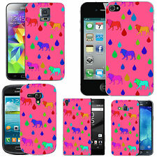 gel case cover for many mobiles - blush multi lion raindrop silicone