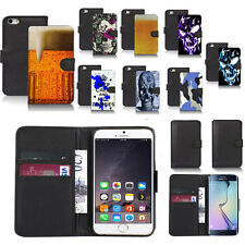 black pu leather wallet case cover for popular mobiles design ref a39