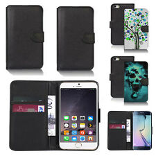 pu leather wallet case cover for apple iphone models design ref q34