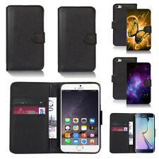 black pu leather wallet case cover for many mobiles design ref q315