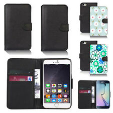 pu leather wallet case cover for apple iphone models design ref q69