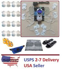 TENS Unit Tens Massager Digital Therapy Acupuncture 8 Pads 2 Outputs Machine VV