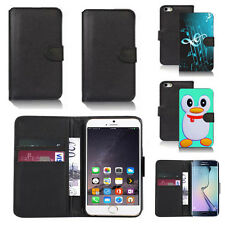 pu leather wallet case cover for apple iphone models design ref q125