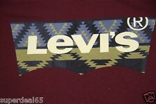 Levi's T Shirt Levis Strauss & Co Batwing Levis Native Print 100% Cotton Levis