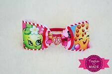 """Shopkins 2"""" Wide Bow Girls Hair Tie Clips Accessories"""