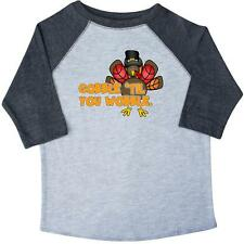 Inktastic Gobble 'til You Wobble Thanksgiving Toddler T-Shirt turkey cute funny