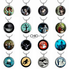 Scary Glow in the Dark Necklace Horror Halloween Pendant Party Gift Jewellery