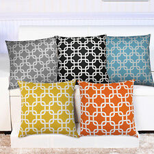 Home Decorative Linen Cushion Cover Sofa Chair Square Throw Pillow Case Fancy