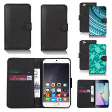 pu leather wallet case cover for many mobiles design ref q130