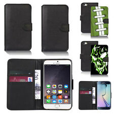 pu leather wallet case cover for apple iphone models design ref q139