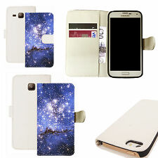 pu leather wallet case for majority Mobile phones - starlet white