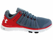 NEW MENS UNDER ARMOUR MICRO G LIMITLESS TR 2 CROSS TRAINING SHOES STEEL / RED