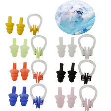 Swimming Set Waterproof Silicone Earplugs Nose Clip Soft Swim Ear Plug Tools New