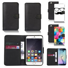 black pu leather wallet case cover for many mobiles design ref q335