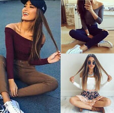 1PCS Fit Long Sleeve Casual Knitted Stretch Sweaters Fashion Women Pullovers