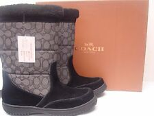 Coach $198 Women's Sherman Signature Cold Weather Boot Black