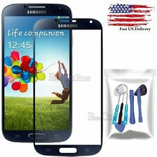 For Samsung Galaxy S4 AT&T Black Replacement Outer Screen Glass Lens Repair Kit
