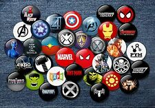 Marvel Superhero style 38mm Badges Comic book movie collectable cult MCU