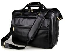 Men's Genuine Leather Vintage Messenger Bag Shoulder Laptop Bag Briefcase