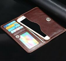 Genuine Leather Business Soft Thin Cash Clutch Bag Card Wallet Purse Case Cover