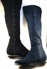 Lady Couture Glow Over Knee Crystal Rhinestone Flat Dress Boots Choose Sz/Color