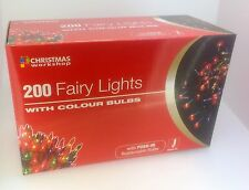 Red Fairy Christmas 200/100/40/20 Color Lights Shaped Fairy String Xmas Indoor