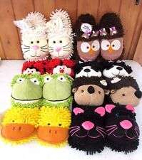 Aroma Home Fuzzy Friends Slippers ~ Assorted Animals ~ New ~ Free Shipping