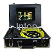 """7"""" 30M 100ft Drain Sewer Waterproof Camera Pipe Pipeline Snake Inspection System"""