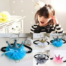 Children Baby Tulle Flower Tiaras Hairbands Girl Hair Accessories Ornaments